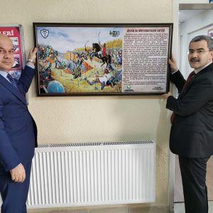Çivril'de Miryokefalon Zaferi Okul Panosu Dağıtımına Başlandı.